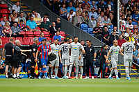 Marko Grujić of Hertha Berlin is substituted during the pre season friendly match between Crystal Palace and Hertha BSC at Selhurst Park, London, England on 3 August 2019. Photo by Carlton Myrie / PRiME Media Images.