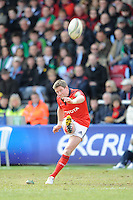 Ronan O'Gara of Munster Rugby finally gets his kicking boots on during the Heineken Cup quarter final match between Harlequins and Munster at the Twickenham Stoop on Sunday 7th April 2013 (Photo by Rob Munro)
