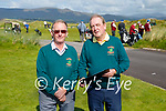 Doing the paperwork at the semi finals of the Dr Billy O'Sullivan at Waterville Golf Links on Monday were l-r; Pat Everett (treasurer) and John Fleming Captain of the Kerry Clubs.