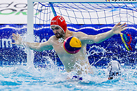 14-02-2021: Waterpolo: France v Russia: Rotterdam<br /> <br /> ROTTERDAM, NETHERLANDS - FEBRUARY 14: Clement Dubois of France during the Olympic Waterpolo Qualification Tournament 2021 match between France and Russia at Zwemcentrum Rotterdam on February 14, 2021 in Rotterdam, Netherlands (Photo by Marcel ter Bals/Orange Pictures)