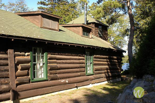 Old Camp Allagash Dining Room.restored log building
