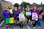Ann Eager after cycling from Donegal to Derrymore Beach for the ICU in Beaumont and the Cardiac Rehabilitation Unit in the UHK, front l to r: Breda Quirke, Ann Eager, Conor McCarthy, Eileen Scanlon and Trish Horan. Back l to r: Gda Trish Fitzpatrick, Laurence O'Dowd, Martin Quirke, Sarah Hensman, Denise Kennedy, Gerard McCarthy, Mary Burke and Pauline Scanlon.