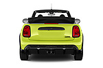 Straight rear view of 2021 MINI MINI Cooper-S-JCW 2 Door Convertible Rear View  stock images