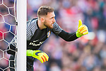 Goalkeeper Jan Oblak of Atletico de Madrid reacts during their La Liga match between Atletico de Madrid and FC Barcelona at the Santiago Bernabeu Stadium on 26 February 2017 in Madrid, Spain. Photo by Diego Gonzalez Souto / Power Sport Images