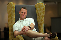 Newport County manager Mike Flynn at the Coldra Court Hotel in Newport, Wales, UK. Wednesday 04 May 2017