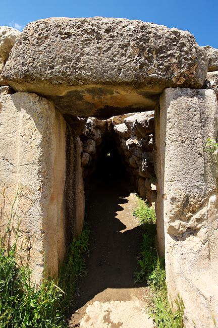 Photo of the Hittite releif sculpture on the Lion gate to the Hittite capital Hattusa