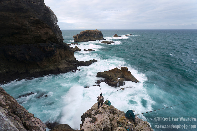 Fishing at Bordeira in SouthWest Portugal.
