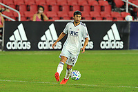 WASHINGTON, DC - SEPTEMBER 27: Lee Nguyen #42 of New England Revolution moves the ball during a game between New England Revolution and D.C. United at Audi Field on September 27, 2020 in Washington, DC.