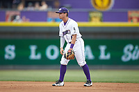 Winston-Salem Dash second baseman Mitch Roman (4) on defense against the Buies Creek Astros at BB&T Ballpark on May 5, 2018 in Winston-Salem, North Carolina. The Dash defeated the Astros 6-2. (Brian Westerholt/Four Seam Images)