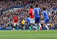 Pictured: Ki Sung-Yueng (L)<br /> Barclays Premier League, Chelsea FC (blue) V Swansea City,<br /> 28/04/13