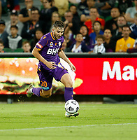 18th April 2021; HBF Park, Perth, Western Australia, Australia; A League Football, Perth Glory versus Wellington Phoenix; Carlo Armiento of the Perth Glory breaks with the ball into attack