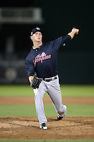 Tampa Yankees pitcher Evan Rutckyj (34) delivers a pitch during a game against the Fort Myers Miracle on April 15, 2015 at Hammond Stadium in Fort Myers, Florida.  Tampa defeated Fort Myers 3-1 in eleven innings.  (Mike Janes/Four Seam Images)