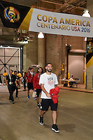 Houston, TX - Tuesday June 21, 2016: Clint Dempsey, United States arriving prior to a Copa America Centenario semifinal match between United States (USA) and Argentina (ARG) at NRG Stadium.