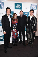 "LONDON, UK. September 25, 2019: Yosuke Kubozuka, Kelly MacDonald, Charlie Creed-Miles & Takehiro Hira at the"" GIRI/HAJI"" screening at the Curzon Bloomsbury, London.<br /> Picture: Steve Vas/Featureflash"