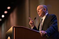 Governor Bill Walker speaks at the 2015 Alaska Federation of Natives Convention at the Dena'ina Center.