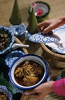 """Asie/Thaïlande/Env de Chiang Mai : Réception à la """"Mae Sa Valley Resort"""" - Les plats"""
