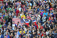 Seattle, WA - Thursday June 16, 2016: United States fans during a Copa America Centenario quarterfinal match between United States (USA) and Ecuador (ECU) at CenturyLink Field.