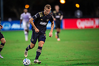LAKE BUENA VISTA, FL - JULY 20: Kacper Przybylko #23 of the Philadelphia Union dribbles the ball during a game between Orlando City SC and Philadelphia Union at Wide World of Sports on July 20, 2020 in Lake Buena Vista, Florida.