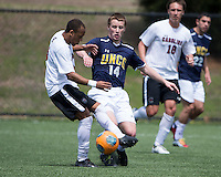 The UNC Greensboro Spartans played the University of South Carolina Gamecocks in The Manchester Cup on April 5, 2014.  The teams played to a 0-0 tie.  Nicholas Downs (14), Ive Burnett (4)