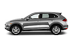 Car Driver side profile view of a 2014 Porsche Cayenne Platinum Edition 5 Door SUV Side View