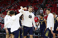 RALEIGH, NC - JANUARY 9: John Mooney #33 of the University of Notre Dame is introduced during a game between Notre Dame and NC State at PNC Arena on January 9, 2020 in Raleigh, North Carolina.