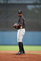 Bradenton Maruaders pitcher Samuel Reyes (31) during a Florida State League game against the Charlotte Stone Crabs on August 7, 2019 at Charlotte Sports Park in Port Charlotte, Florida.  Charlotte defeated Bradenton 3-2 in the second game of a doubleheader.  (Mike Janes/Four Seam Images)