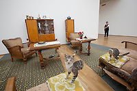 "The Hamburger Bahnhof Museum of Contemporary Art opened in 1997 in a former Berlin railway station. This work by Via Lewandowsky of a sitting room cut in half (including the cat) is called Berliner Zimmer (Berlin Room). It is part of the ""Mind the Gap"" exhibition which ""explores interstices and cavities, unresolved conditions and discrepancies"" and could possibly be a metaphor for the ""Gap"" that was created by the separation of East and West Berlin by the Wall.."