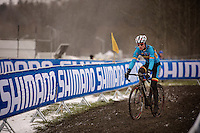 Kevin Pauwels (BEL) during course recon & training<br /> <br /> 2015 UCI World Championships Cyclocross <br /> Tabor, Czech Republic