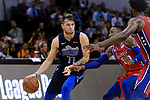 Luka Dončić of Dallas Mavericks (L) in action during the NBA China Games 2018 match between Dallas Mavericks and Philadelphia 76ers at Universiade Center on October 08 2018 in Shenzhen, China. Photo by Marcio Rodrigo Machado / Power Sport Images