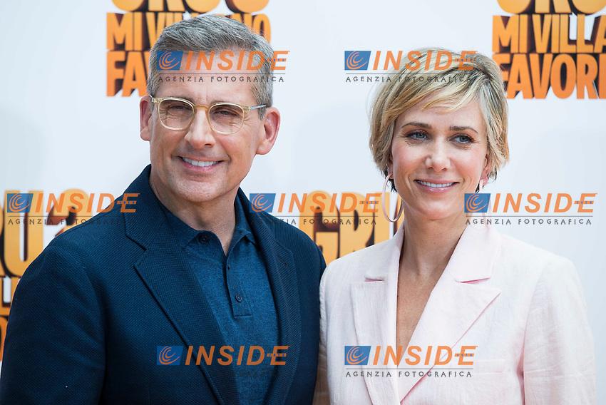 American actor Steve Carrell and american actress Kristen Wiig attends to the presentation of film 'Gru, Mi Villano Favorito 3' (Despicable Me 3 ) in Madrid, June 20, 2017. Spain.<br /> (ALTERPHOTOS/BorjaB.Hojas)<br /> <br /> Cattivissimo 3 Photo Call Madrid <br /> Foto ALTERPHOTOS/BorjaB.Hojas/Insidefoto