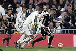 (L-R) Real Madrid's Carlos Henrique Casemiro, Raphael Varane, Daniel Carvajal and AFC Ajax's Dusan Tadic during a UEFA Champions League match. Round of 16. Second leg. March, 5,2019. (ALTERPHOTOS/Alconada)