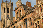Belfort - Belfry with Traditional Architecture, Bruges, Belgium, Europe