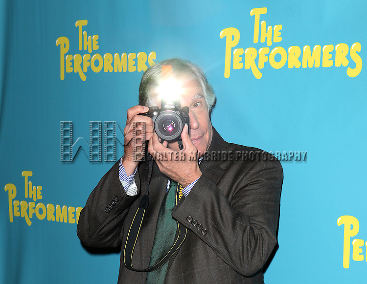 "Actor Henry Winkler attends press event to introduce the cast and creators of the new Broadway play ""The Performers""at the Hard Rock Cafe on Tuesday, Sept. 25, 2012 in New York."