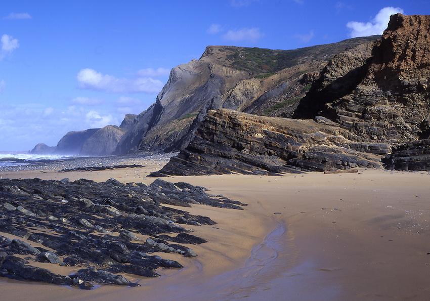 Europe, PRT, Portugal, Algarve, Southwest coast, Typical coastline, Rocky coast