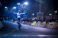 Mathieu van der Poel (NED/Corendon-Circus) wins the Diegem cross for an incredible 8th (!!) consecutive time (from juniors onwards)<br /> <br /> 44th Superprestige Diegem (BEL) 2018<br /> ©kramon