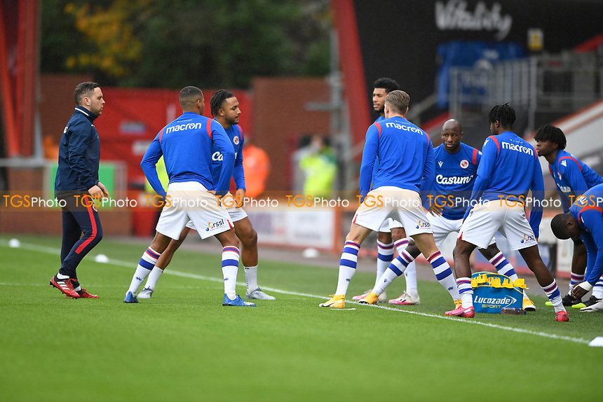 Reading players warm up during AFC Bournemouth vs Reading, Sky Bet EFL Championship Football at the Vitality Stadium on 21st November 2020