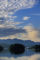Alaska Marine Ferry enters Auk Bay, Juneau, Alaska