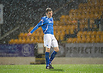 St Johnstone v Aberdeen...13.12.11   SPL .Murray Davidson reacts after missing a one on one chance to score.Picture by Graeme Hart..Copyright Perthshire Picture Agency.Tel: 01738 623350  Mobile: 07990 594431