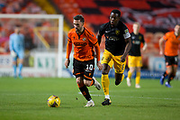2nd October 2020; Tannadice Park, Dundee, Scotland; Scottish Premiership Football, Dundee United versus Livingston; Nicky Clark of Dundee United breaks away from Marvin Bartley of Livingston
