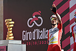 Elia Viviani (ITA) Cofidis at sign on before the start of Stage 7 of the 103rd edition of the Giro d'Italia 2020 running 143km from Matera to Brindisi, Sicily, Italy. 9th October 2020.  <br /> Picture: LaPresse/Gian Mattia D'Alberto | Cyclefile<br /> <br /> All photos usage must carry mandatory copyright credit (© Cyclefile | LaPresse/Gian Mattia D'Alberto)