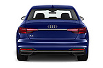 Straight rear view of 2020 Audi A4-Sedan Premium 4 Door Sedan Rear View  stock images