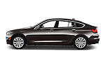 Car Driver side profile view of a 2016 BMW 5 Series 535i Gran Turismo Luxury Line 5 Door Hatchback Side View