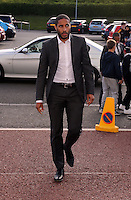 Pictured: Ashley Williams arrives Wednesday 20 May 2015<br /> Re: Swansea City FC Awards Dinner at the Liberty Stadium, south Wales, UK