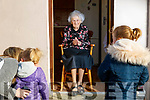 Margaret Neenan who celebrated her 100th birthday on April 1st. pictured with her great grandchildren Ruby and Bronagh.