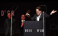 Picture by Simon Wilkinson/SWpix.com - 1/12/19 - Rose d'Or 2019 - Kings Place, London. Michael McIntyre accepts award.