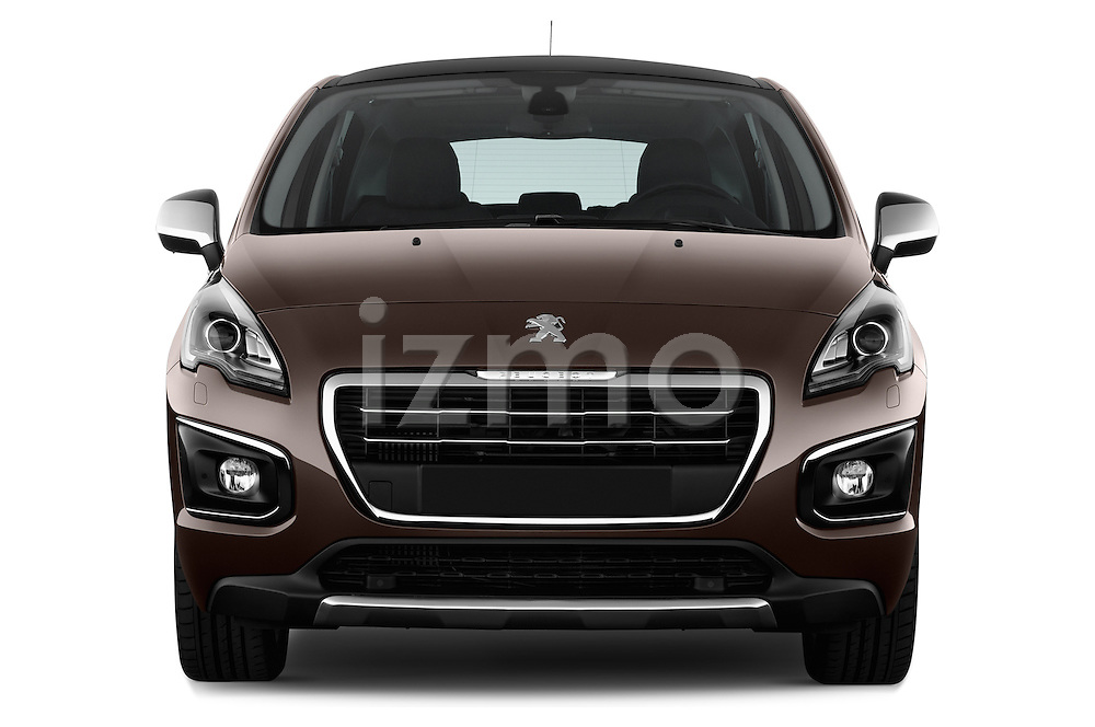 Straight front view of a 2014 Peugeot 3008 5 Door SUV 2WD