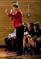 Belmont Abbey College's women's basketball team vs. Queens University, January 23, 2009 at  Belmont Abbey College. The Abbey went on to defeat Queens University 66-57 at the Wheeler Center.