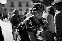 Vasil Kiryienka (BLR/SKY) on his way to the last sign-in<br /> <br /> stage 21: Alcala de Henares - Madrid (98km)<br /> 2015 Vuelta à Espana