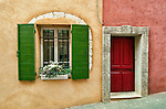 A window and doorway in the town of Roussillon