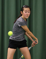 Rotterdam, The Netherlands, March 19, 2016,  TV Victoria, NOJK 14/18 years, Min Chae Kim (NED)<br /> Photo: Tennisimages/Henk Koster